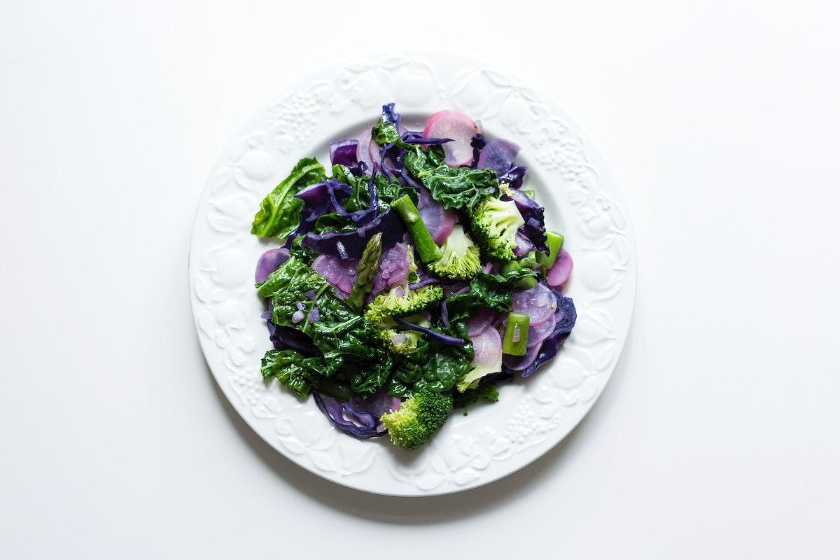 Sautéed spring seasonal vegetables