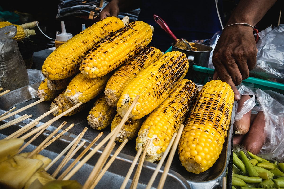Grilled corn on the cop