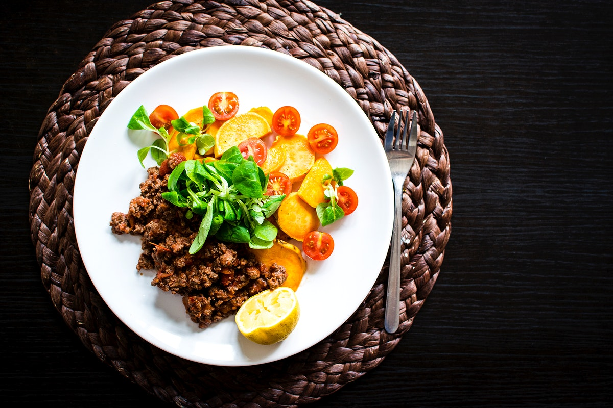 Paleo ground beef and vegetable