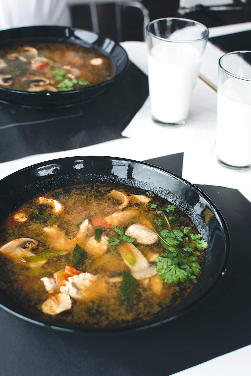 Seafood Tom Yum or Thai style spicy soup