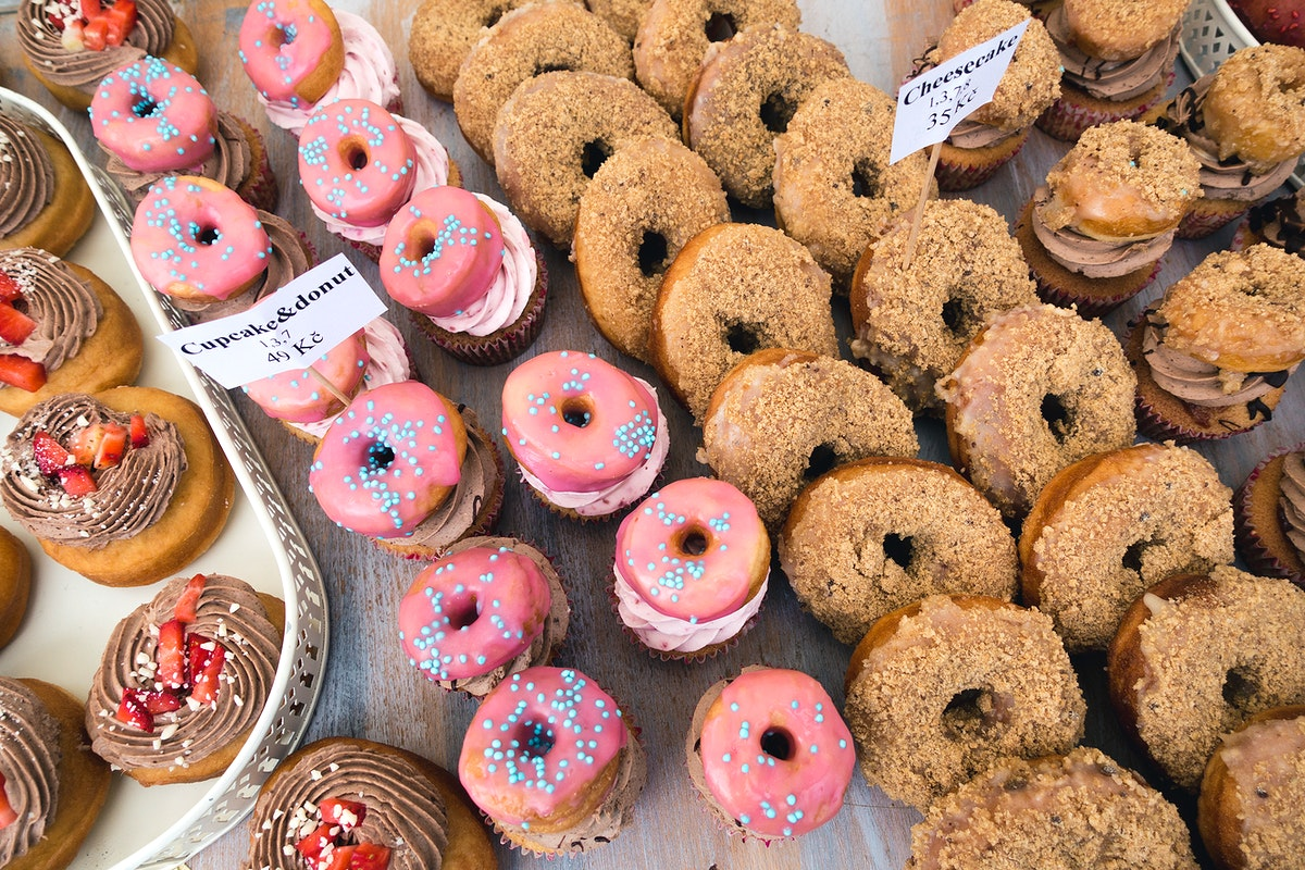 Cupcakes and donuts