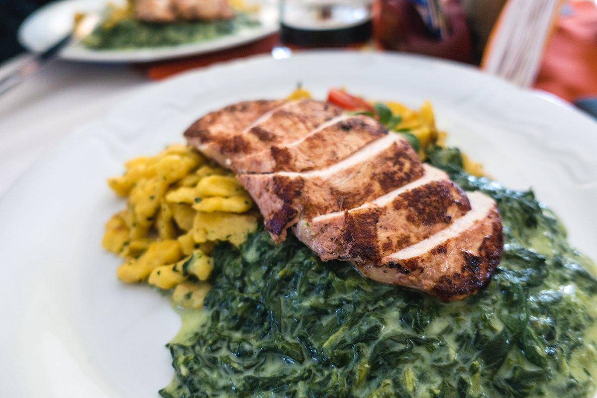 chicken breast with spinach potato gnocchi