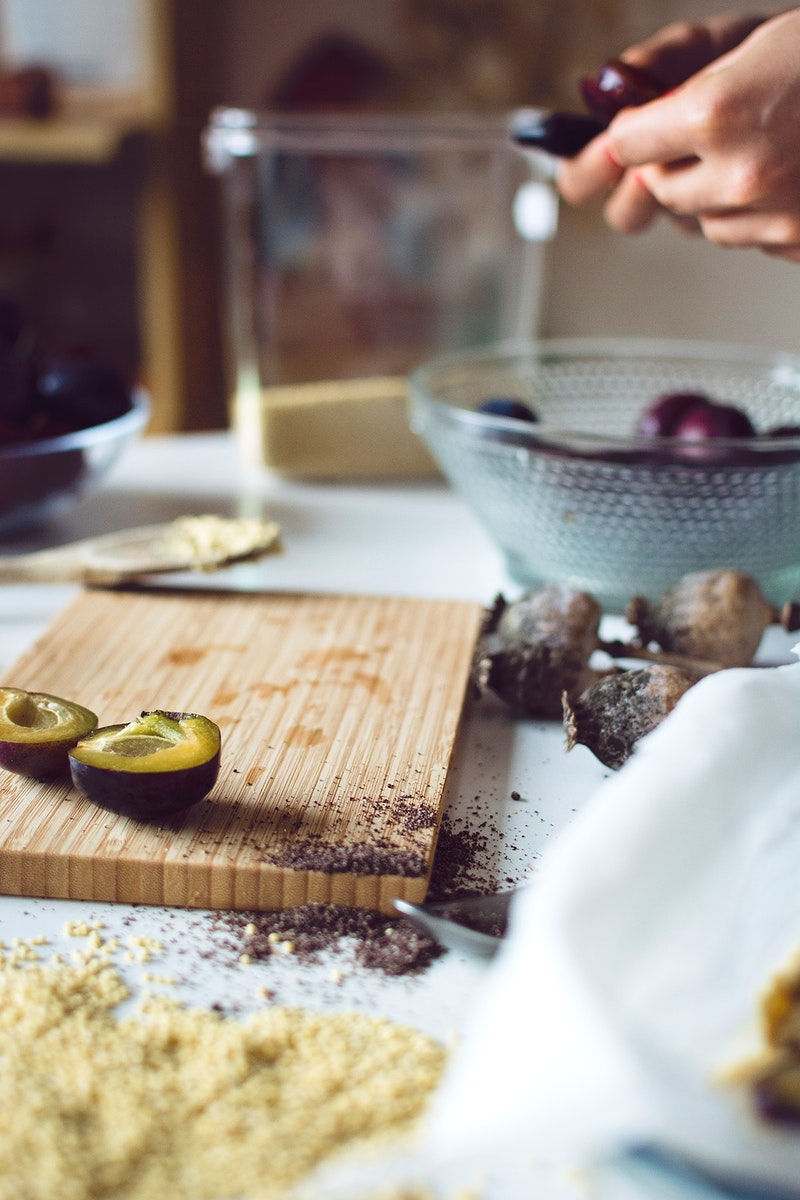 Baking Polish plum cake (Placek ze Sliwkami)