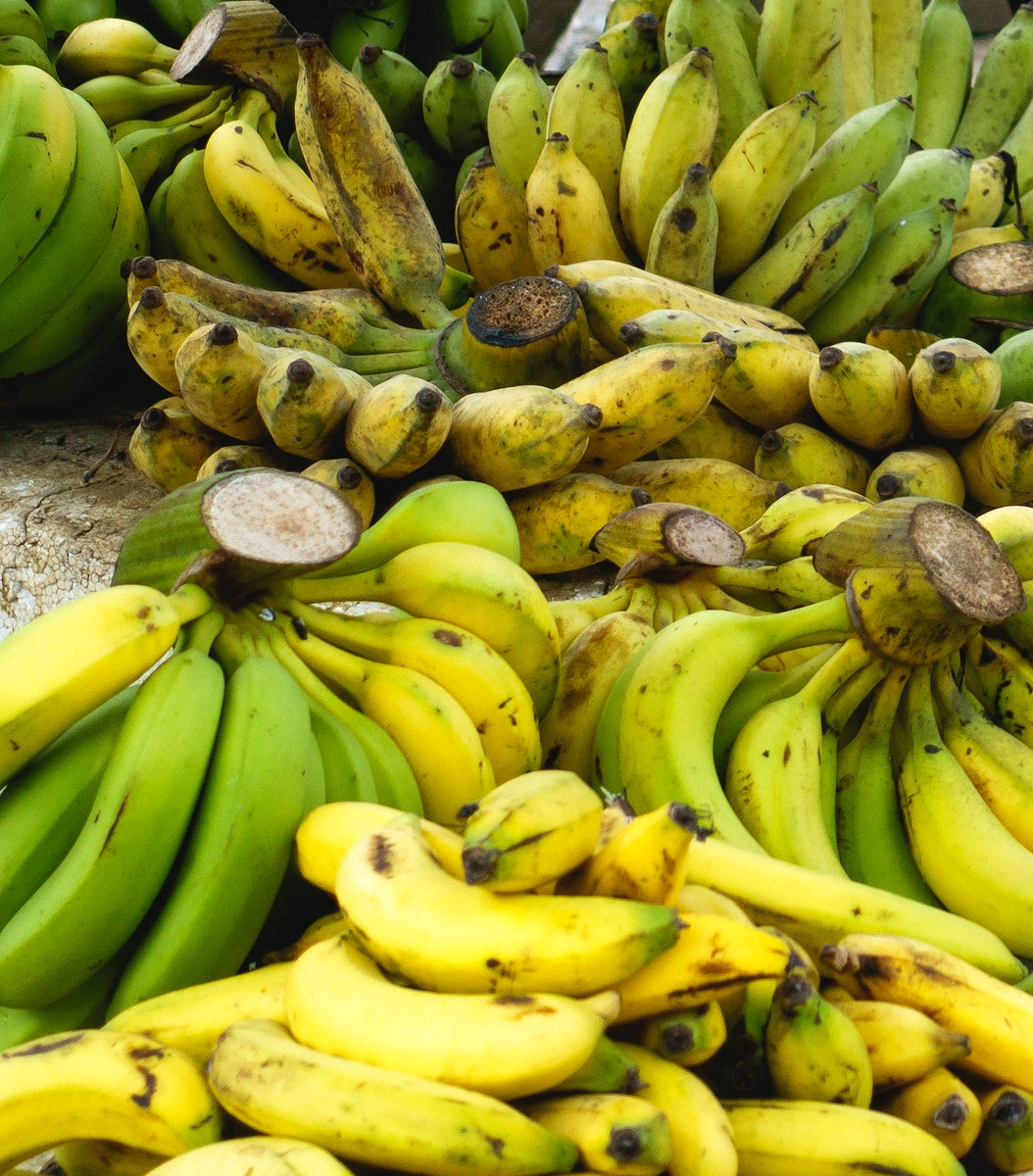 Pile of bananas for sale