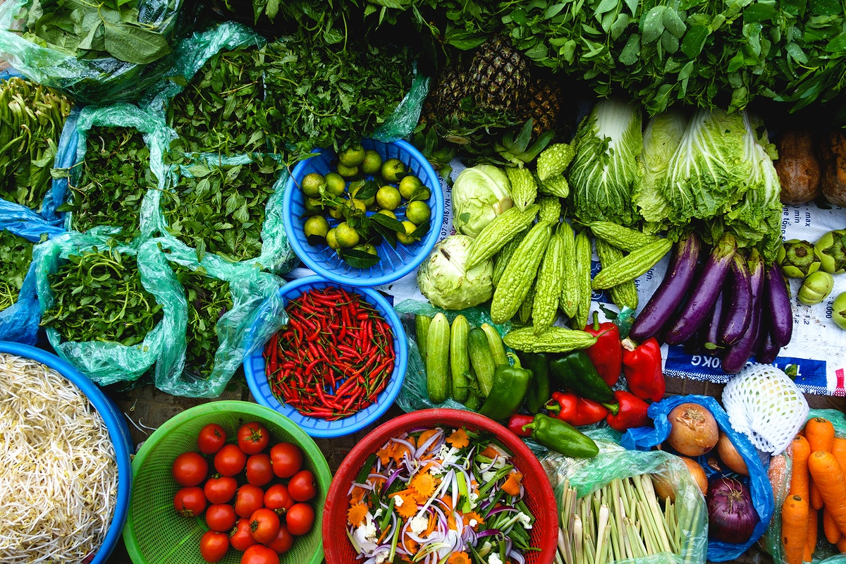 Vegetables at a market in Thailand
