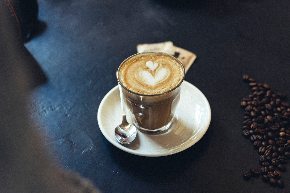 A glass of coffee