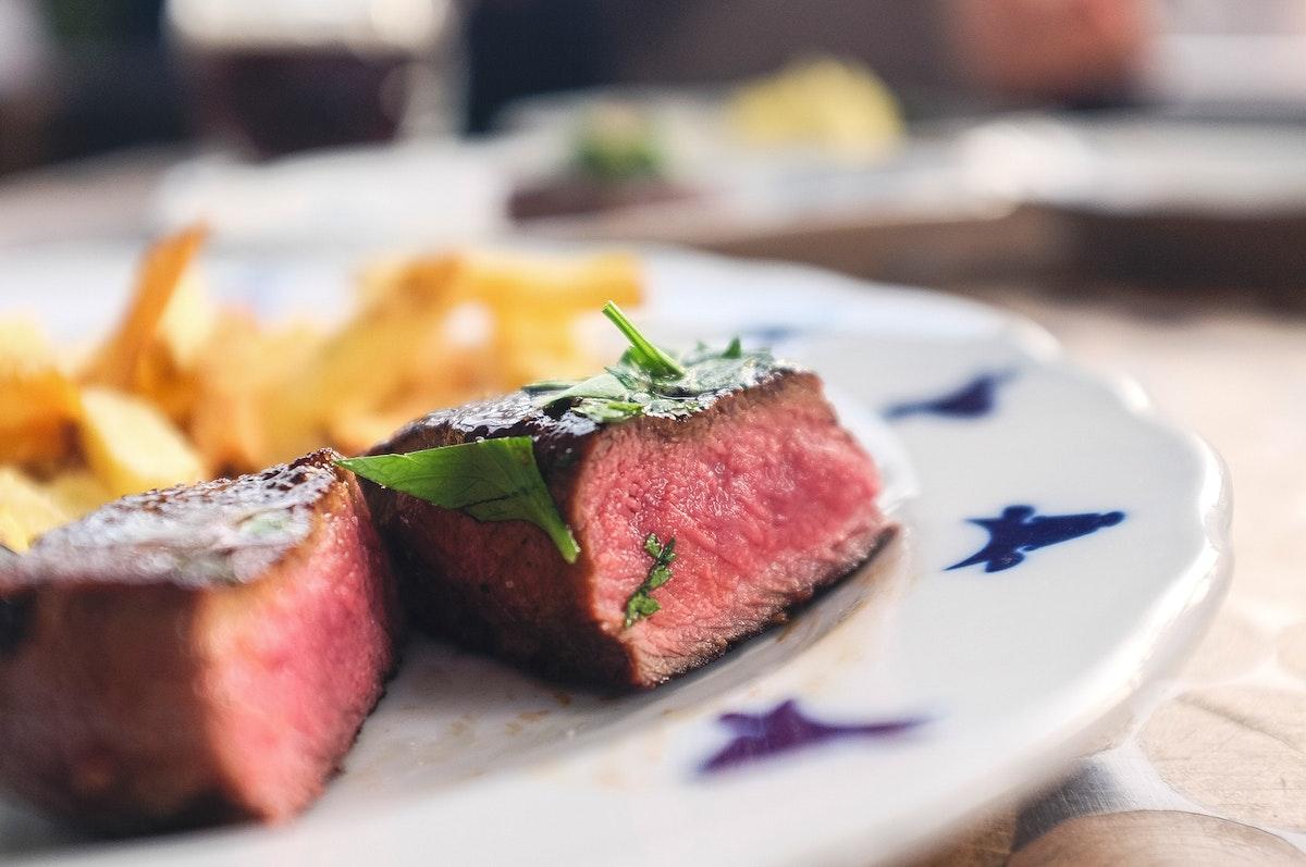 A steak at Czech steakhouse