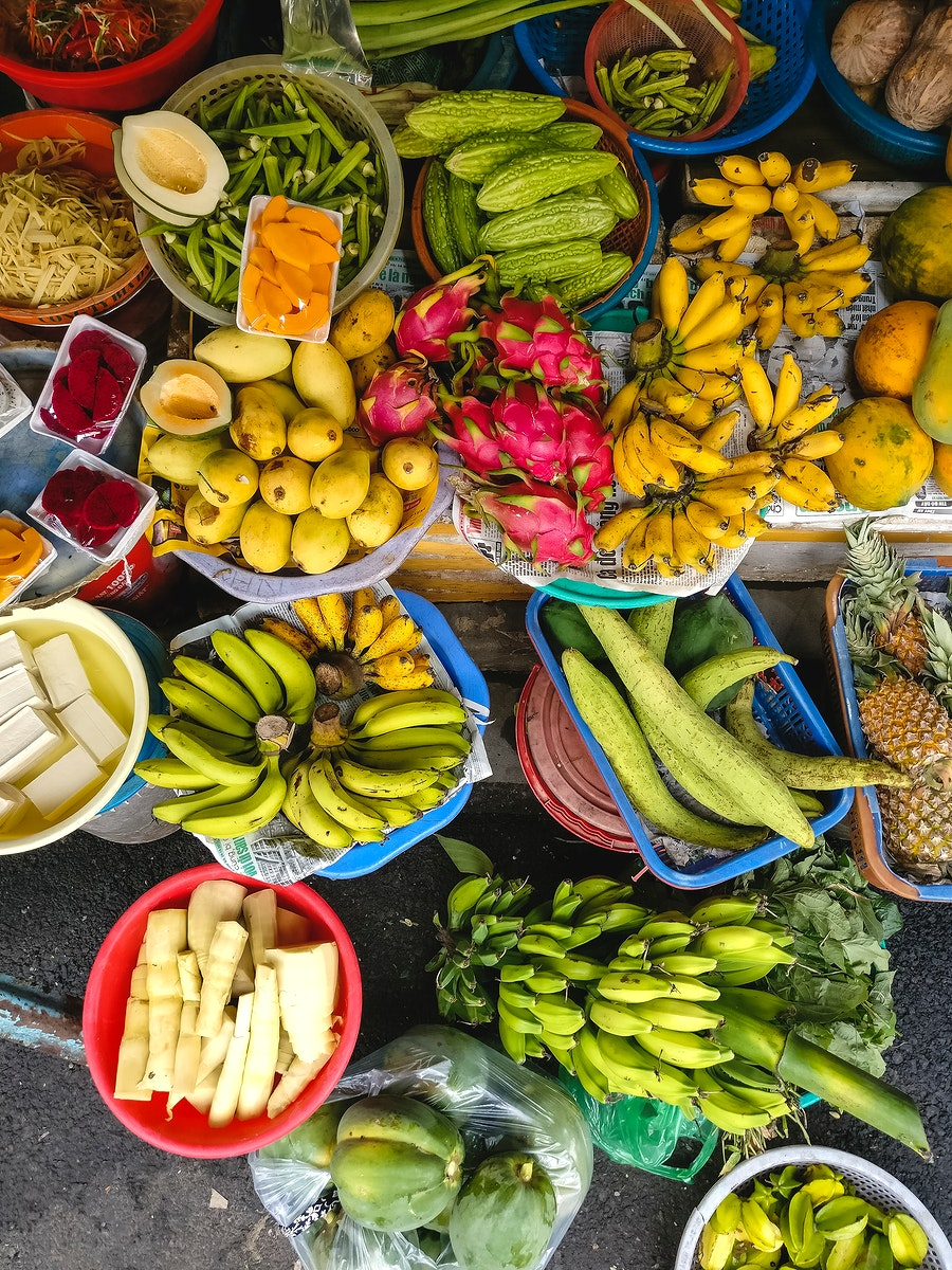 Fresh fruits for sale at the market