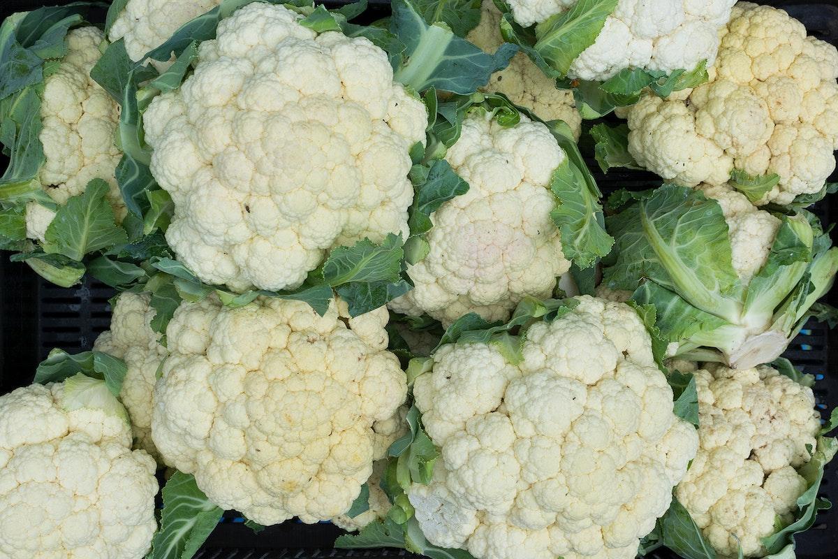 Closeup of cauliflower