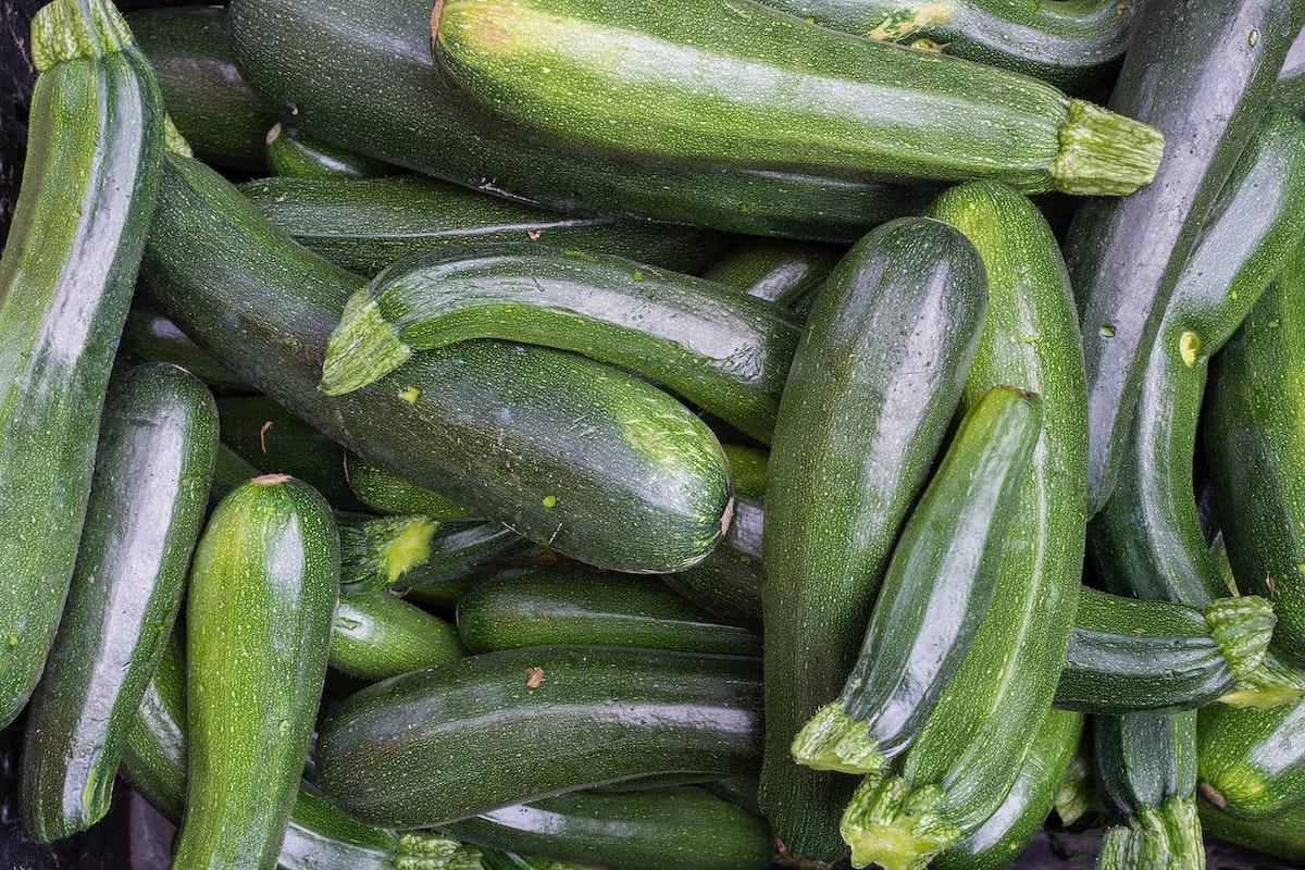 Closeup of zucchini