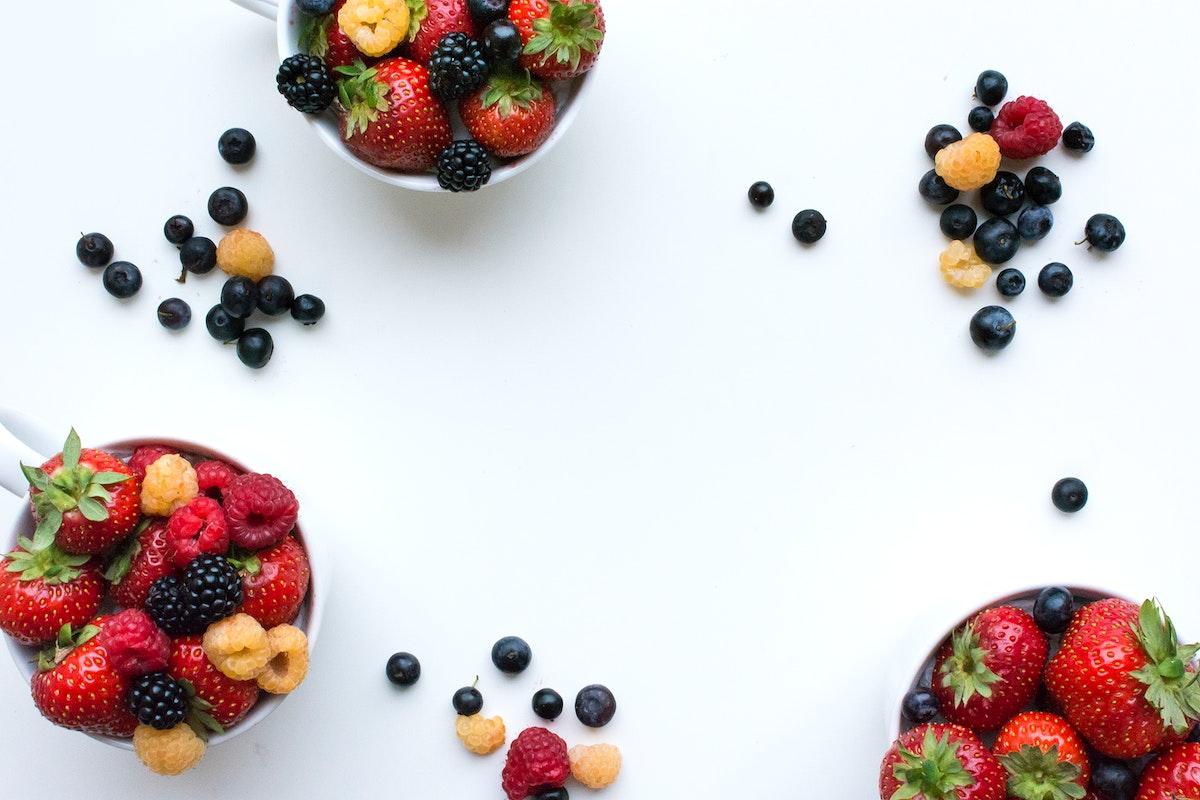 Fresh fruits for dessert
