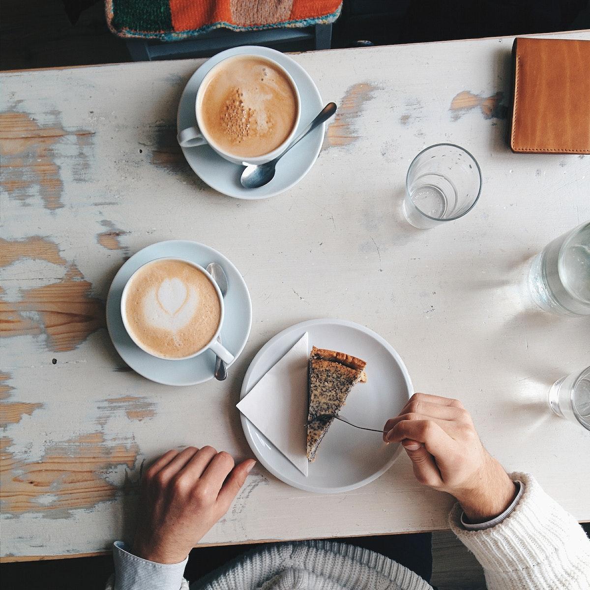 Whitesque coffee shop table