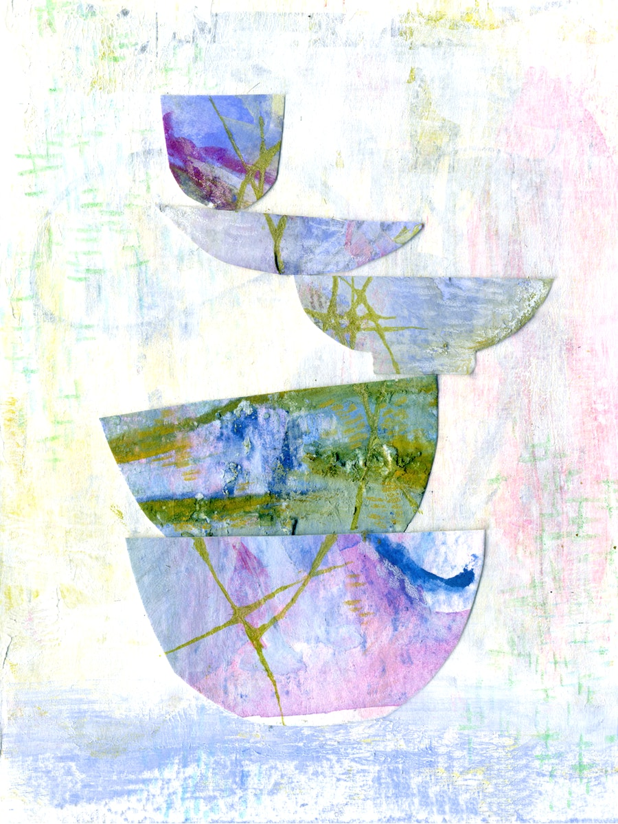 Stacked bowls abstract fine art print