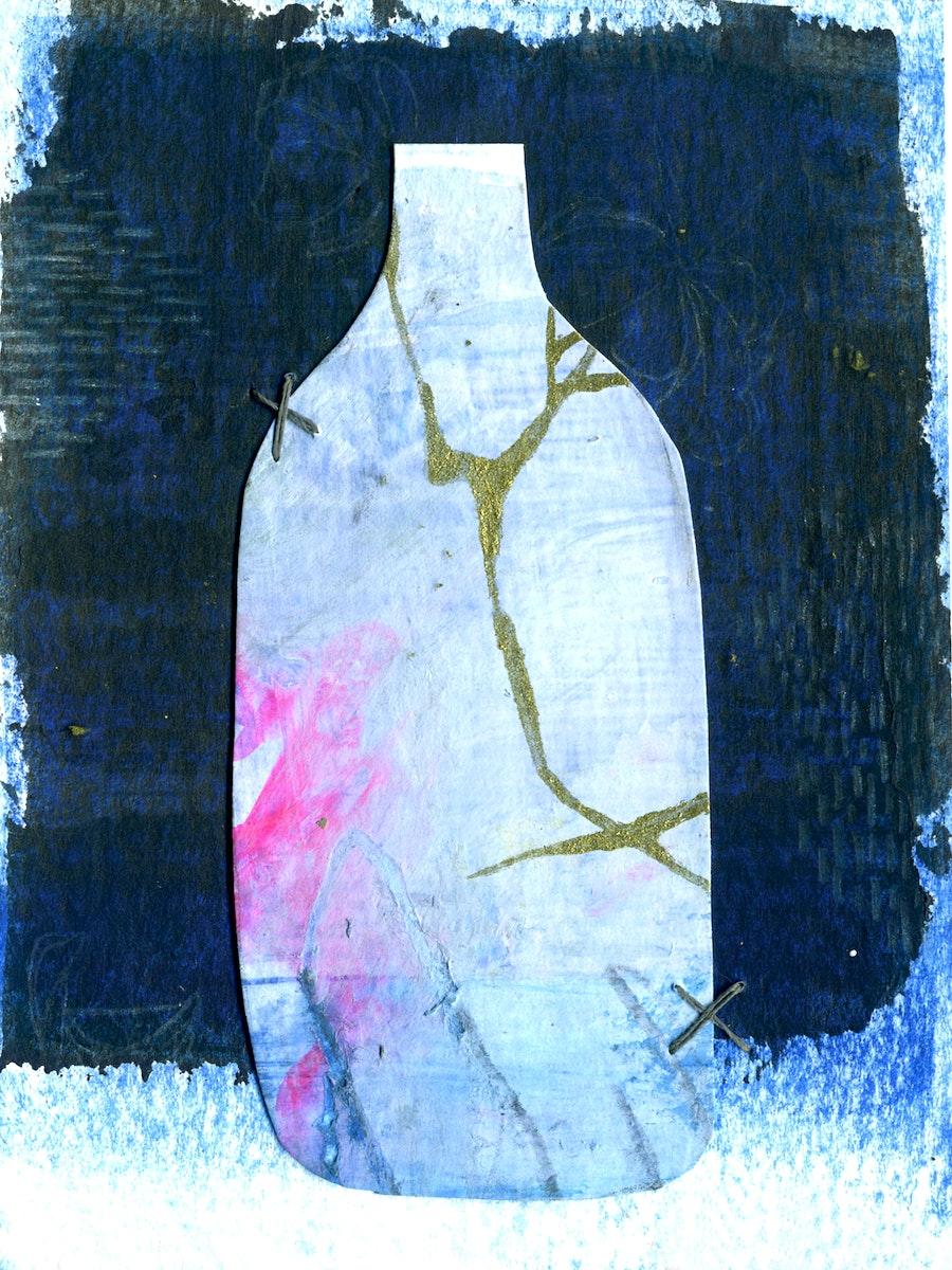 Blue bottle abstract fine art print