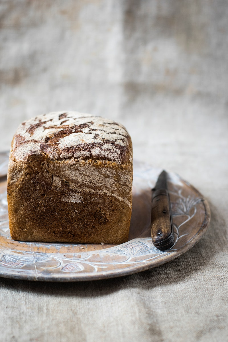 Homemade loaf of healthy bread. Visit Monika Grabkowska to see more of her food photography.