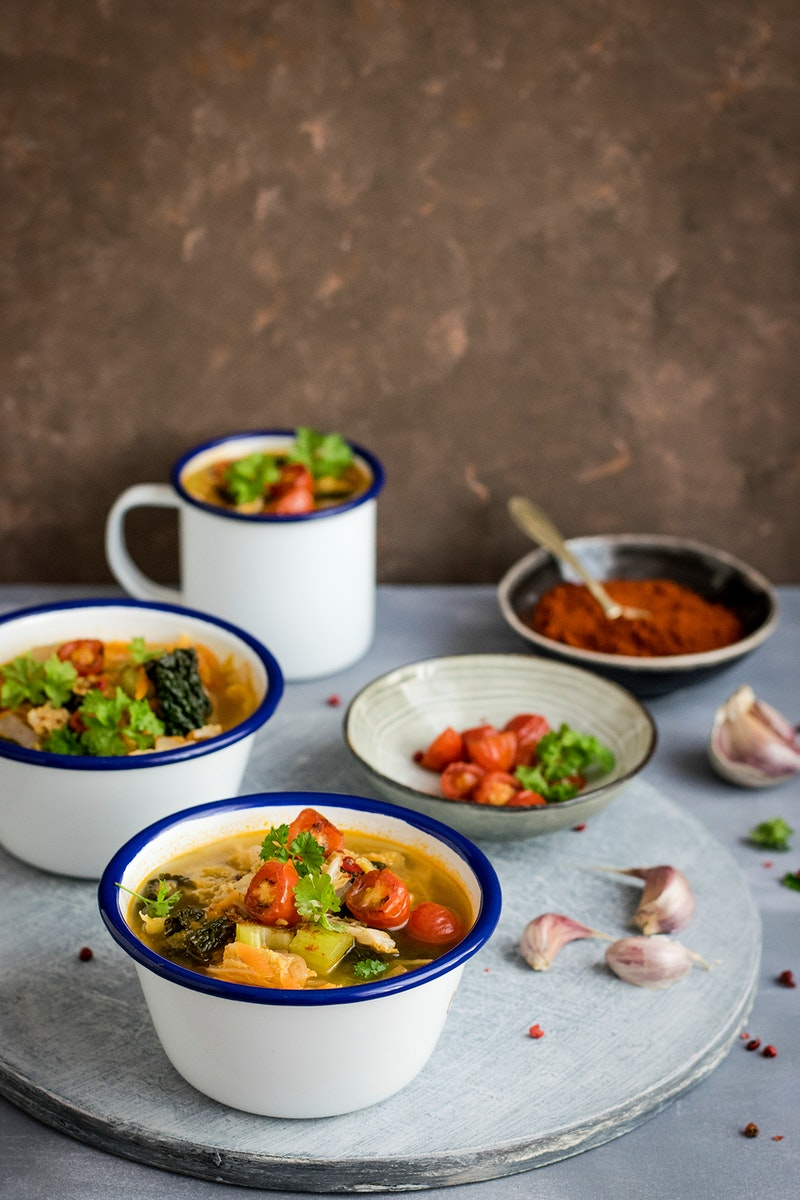 Bowls of Savoy cabbage soup. Visit Monika Grabkowska to see more of her food photography.