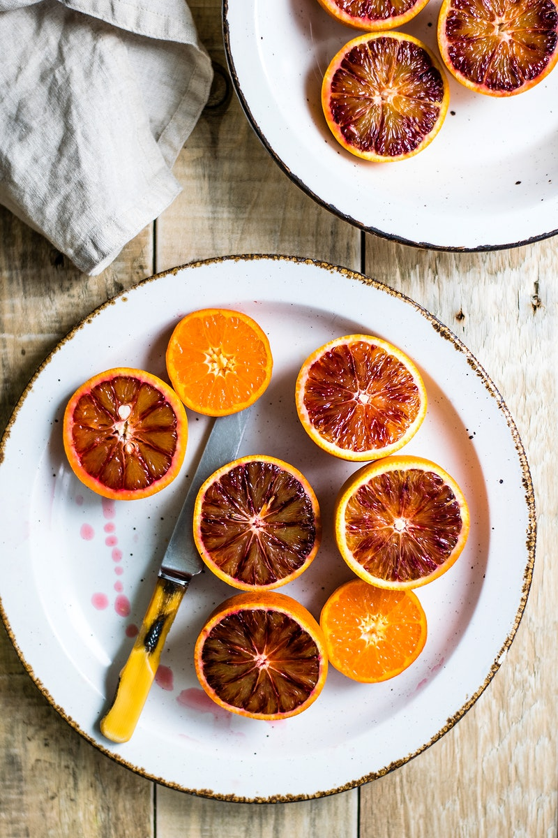Plate of fresh blood oranges. Visit Monika Grabkowska to see more of her food photography.