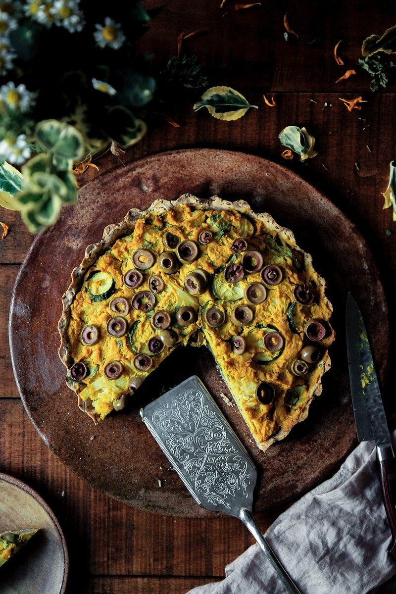 Vegan quiche for breakfast