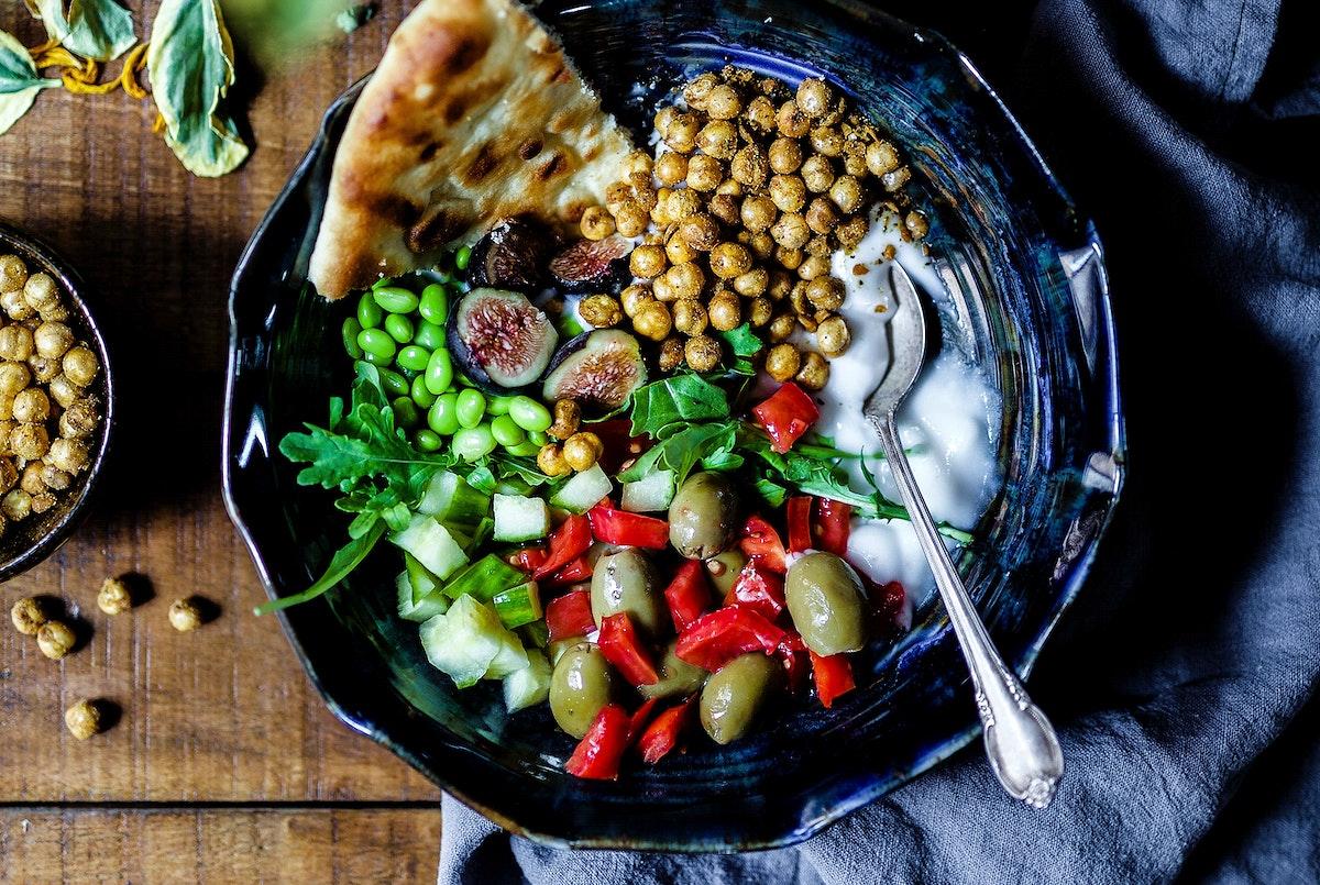 Savory yogurt bowl for breakfast