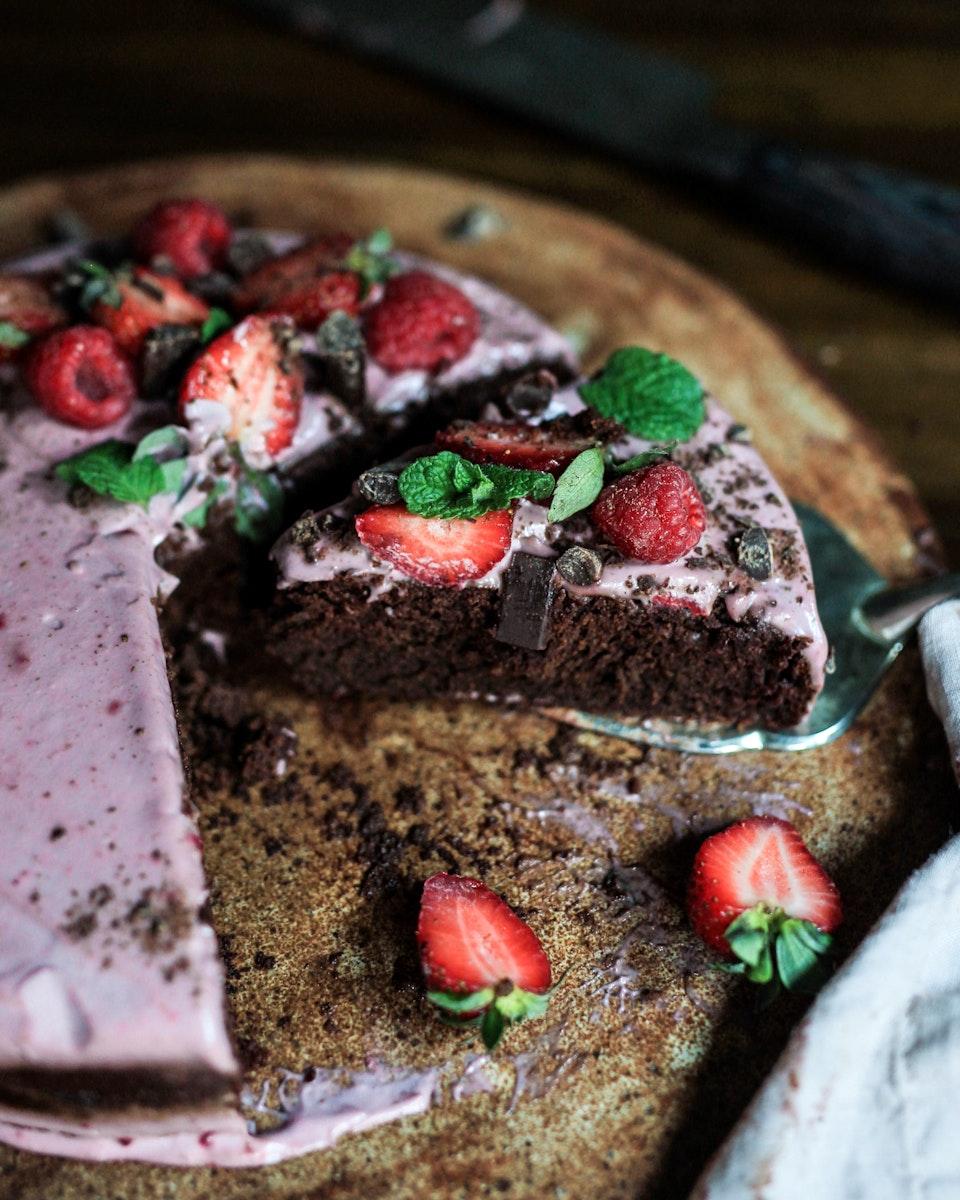 Valentine's Chocolate Teff Cake