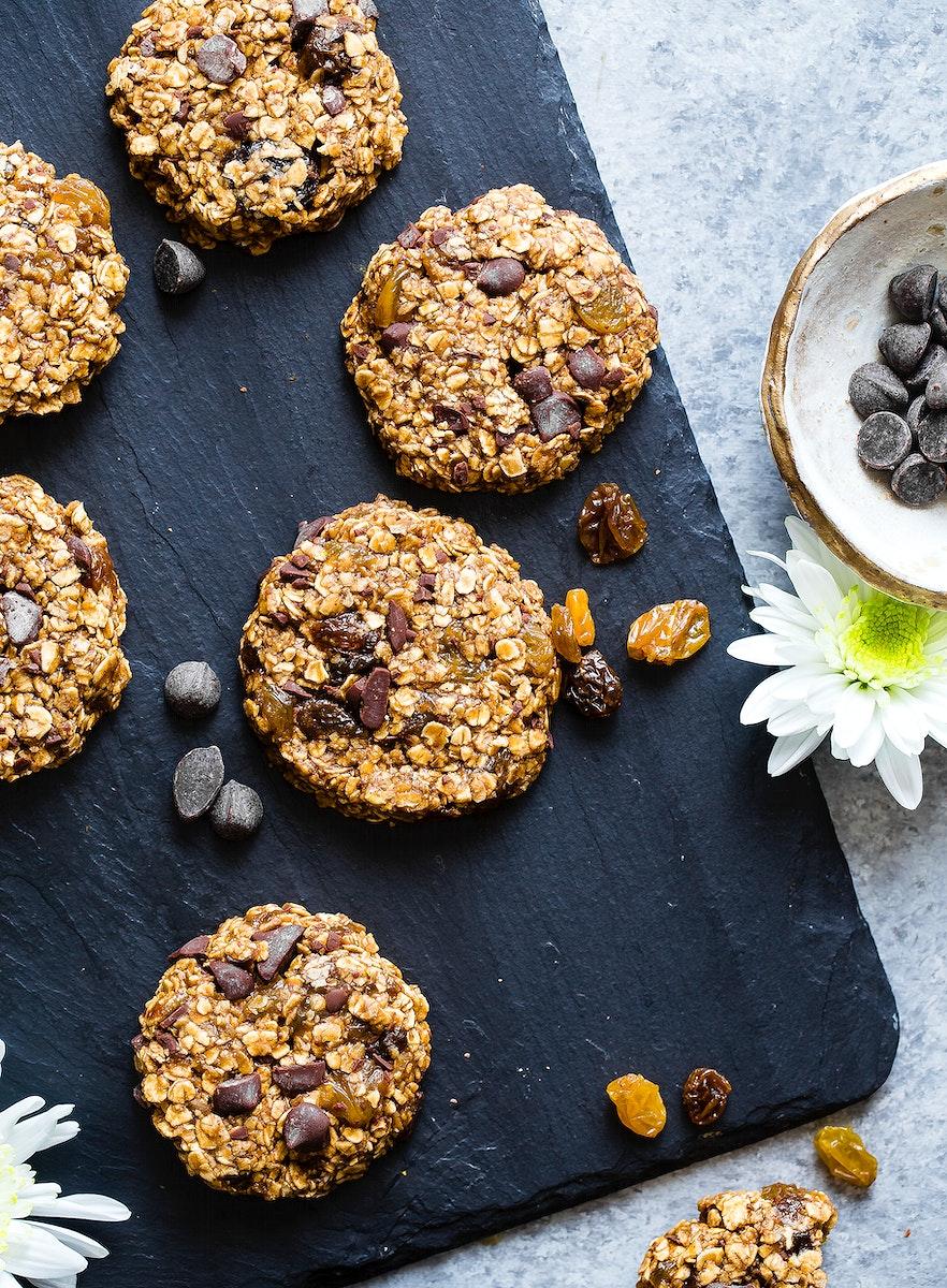 Vegan gluten free, no bake oatmeal cookies