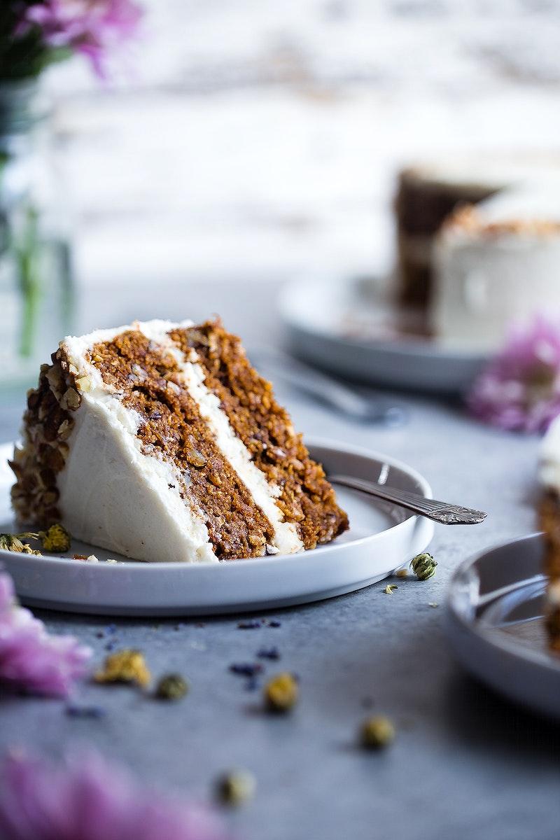 Vegan gluten free, dairy free carrot cake