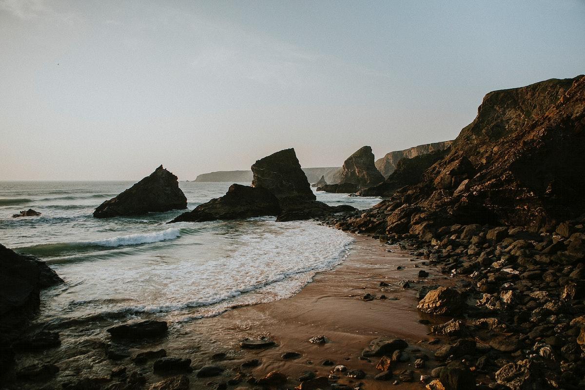 View of coastline in Big Sur, California