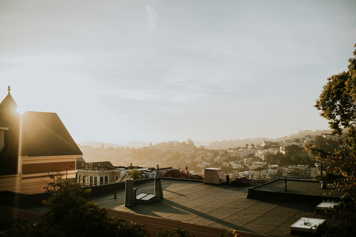 Panorama view of city in the morning