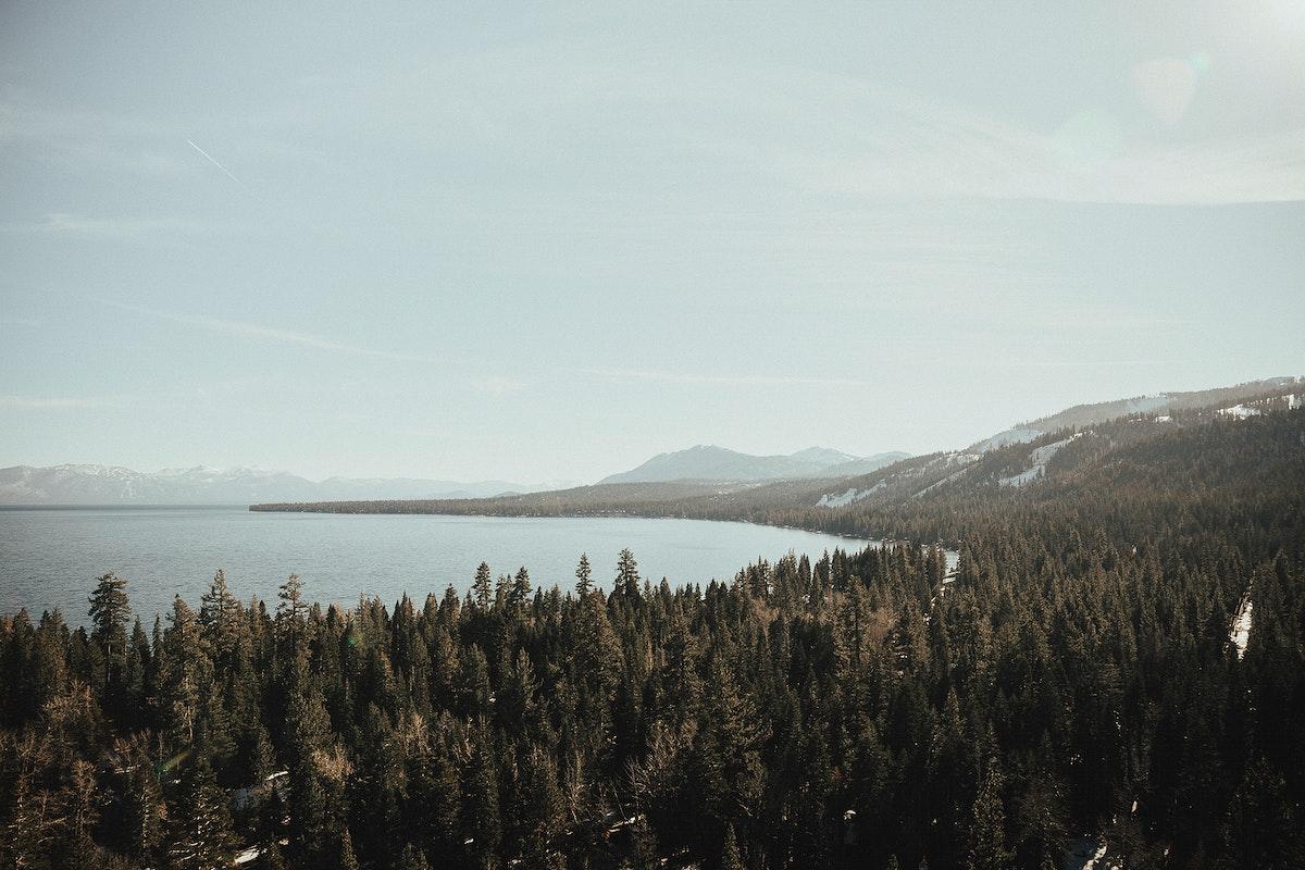 Panoramic view of Yosemite National Park