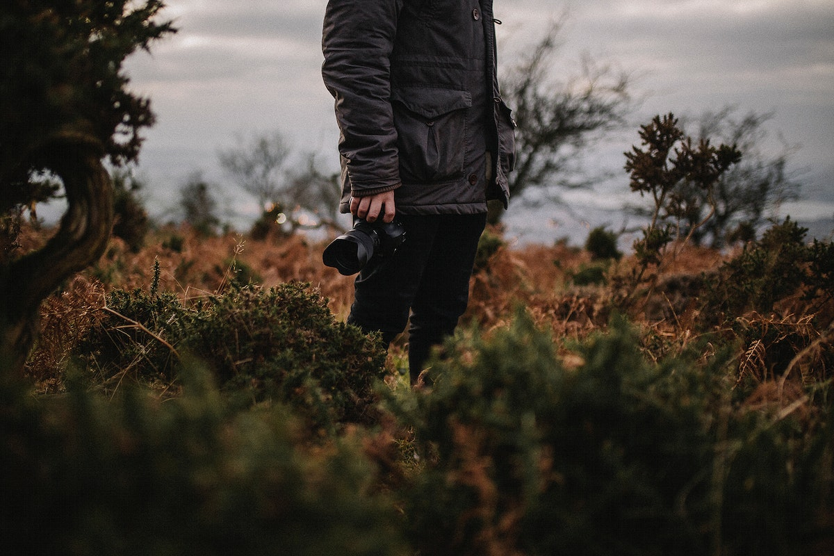Landscape photographer in the wilderness