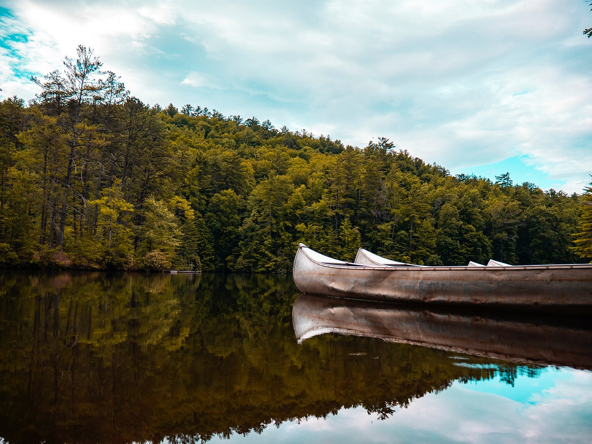 Canoes at The Wilds in North Carolina, United States