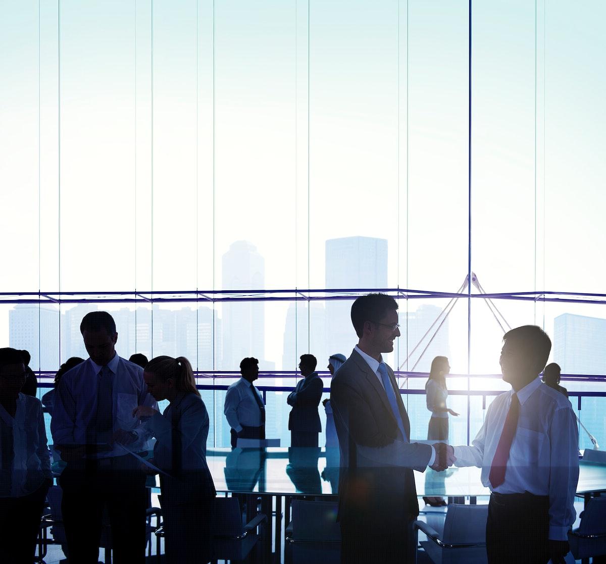 Business Team Meeting Handshake Planning Concept