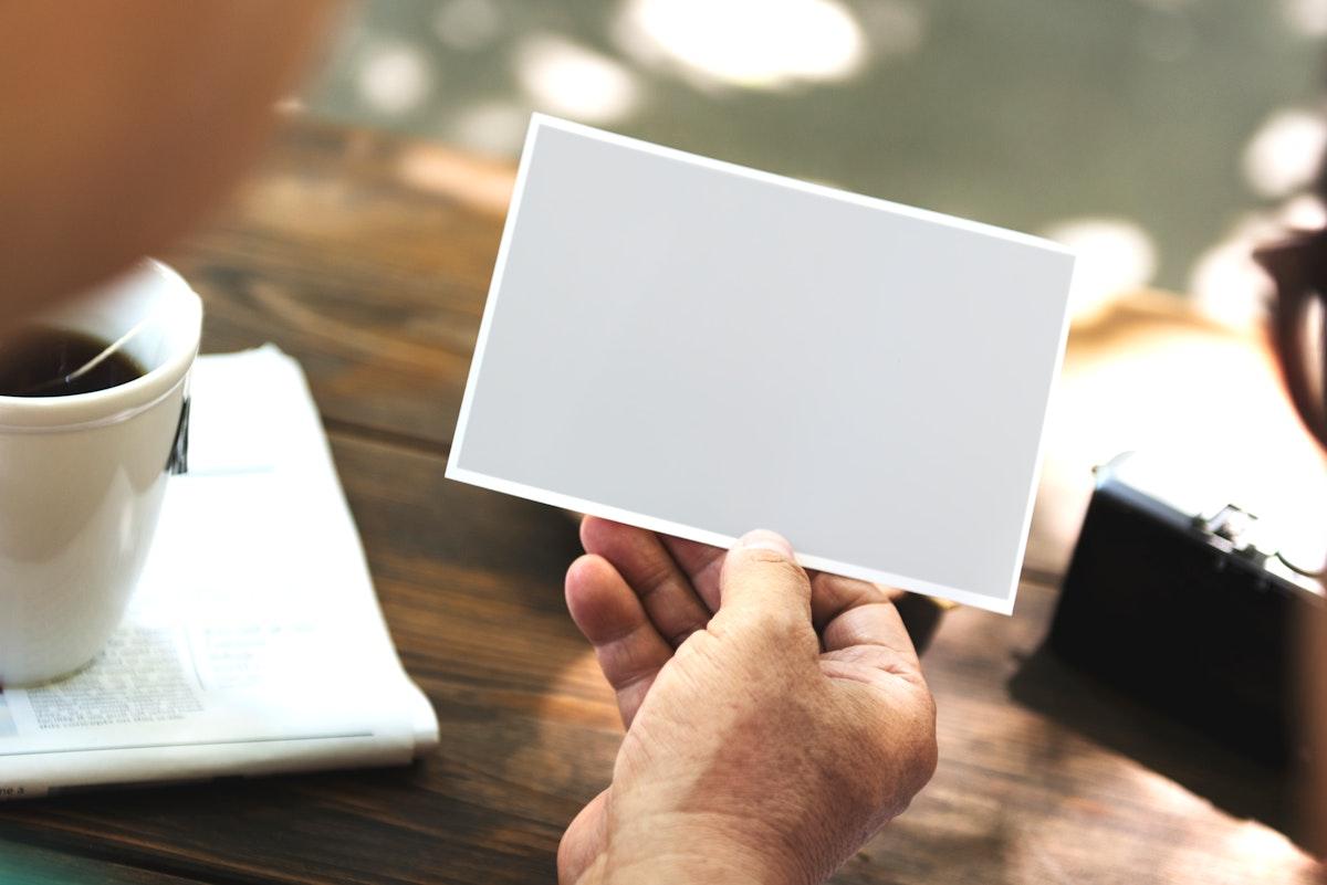 Blank piece of card