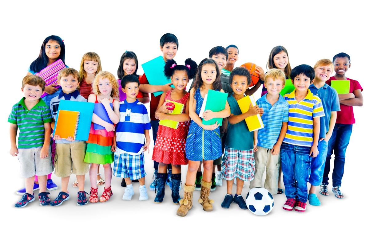 Group of multi ethnic children