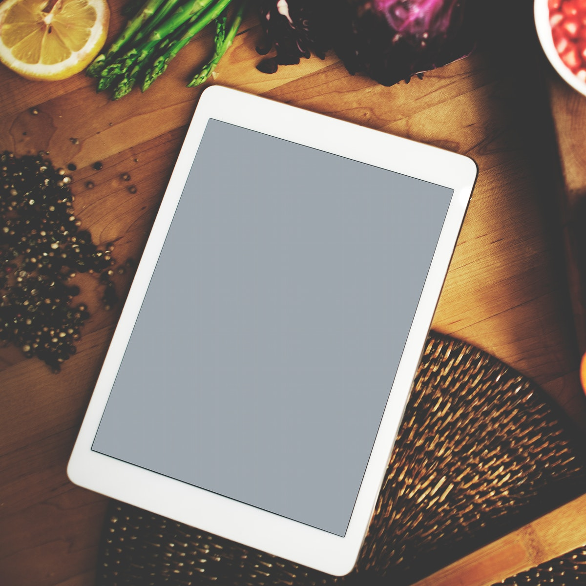 Workspace with digital tablet
