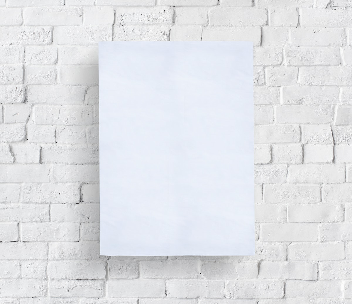 Blank placard on the wall