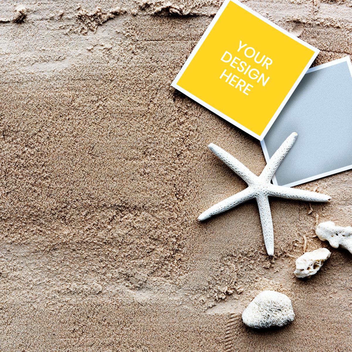 Copy-space of beach summer set