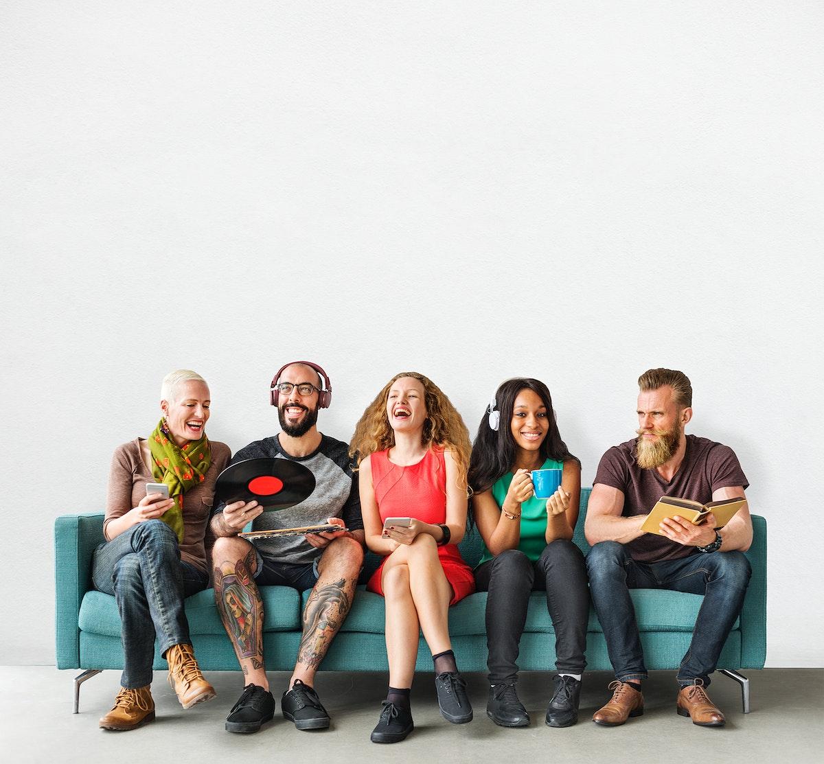 A group of international friends