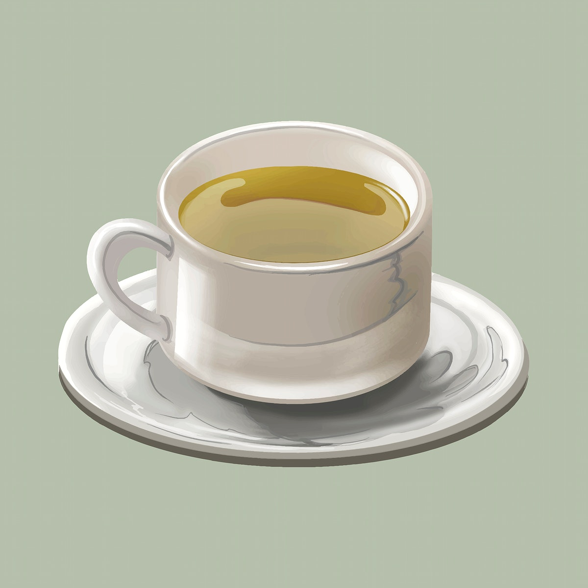 Cup of traditional Japanese green tea or Matcha