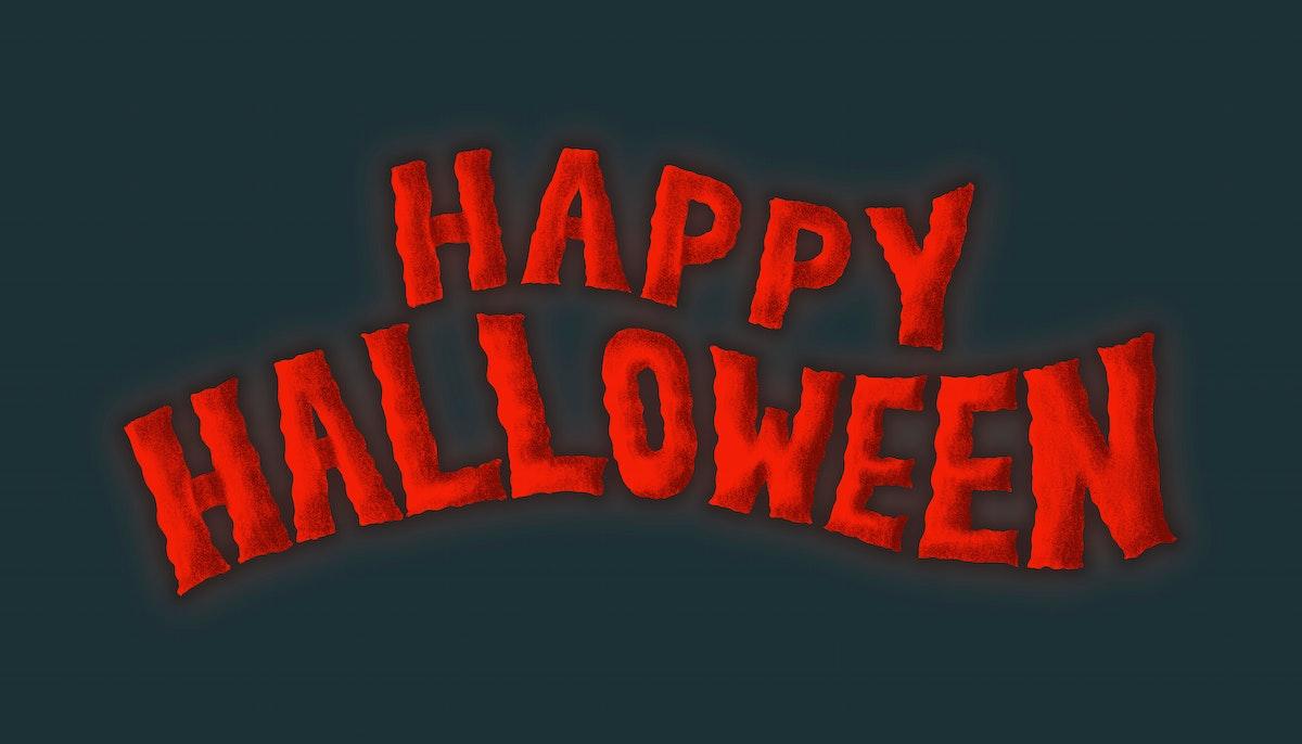 Hand drawn Happy Halloween typography