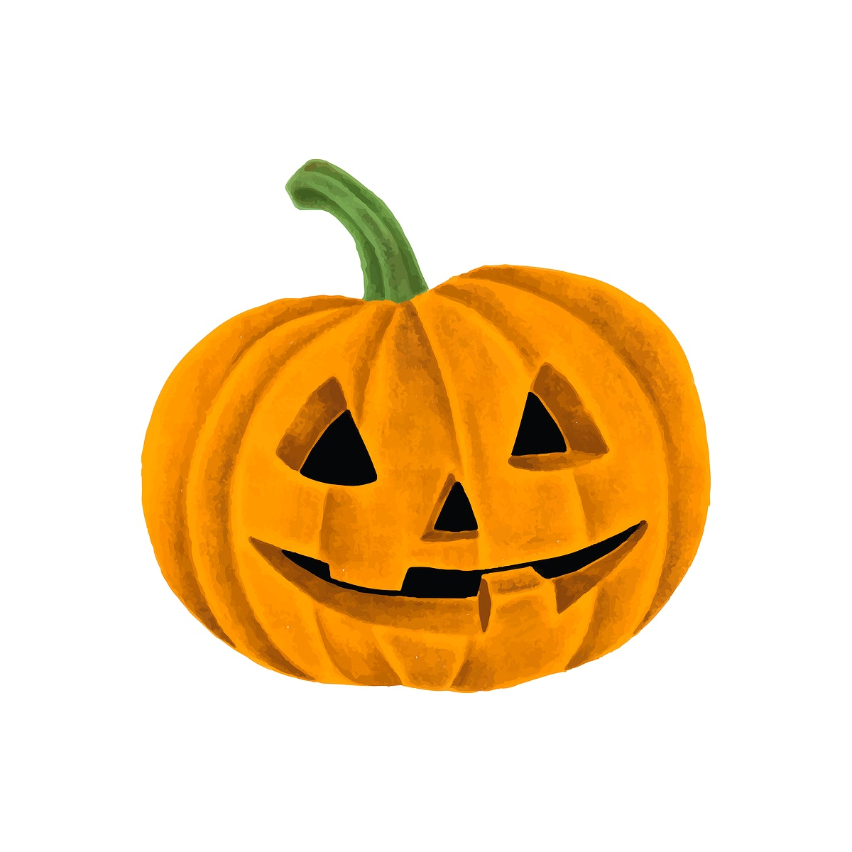 Hand drawn Halloween pumpkin jack-o'-lantern