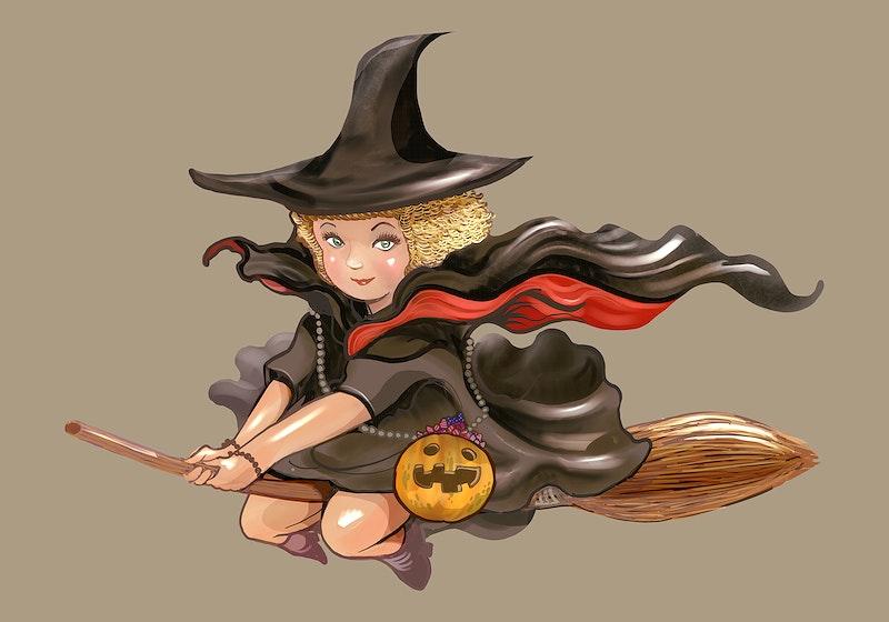 Картинки с ведьмами на метле мультяшные, доброго утра хорошего