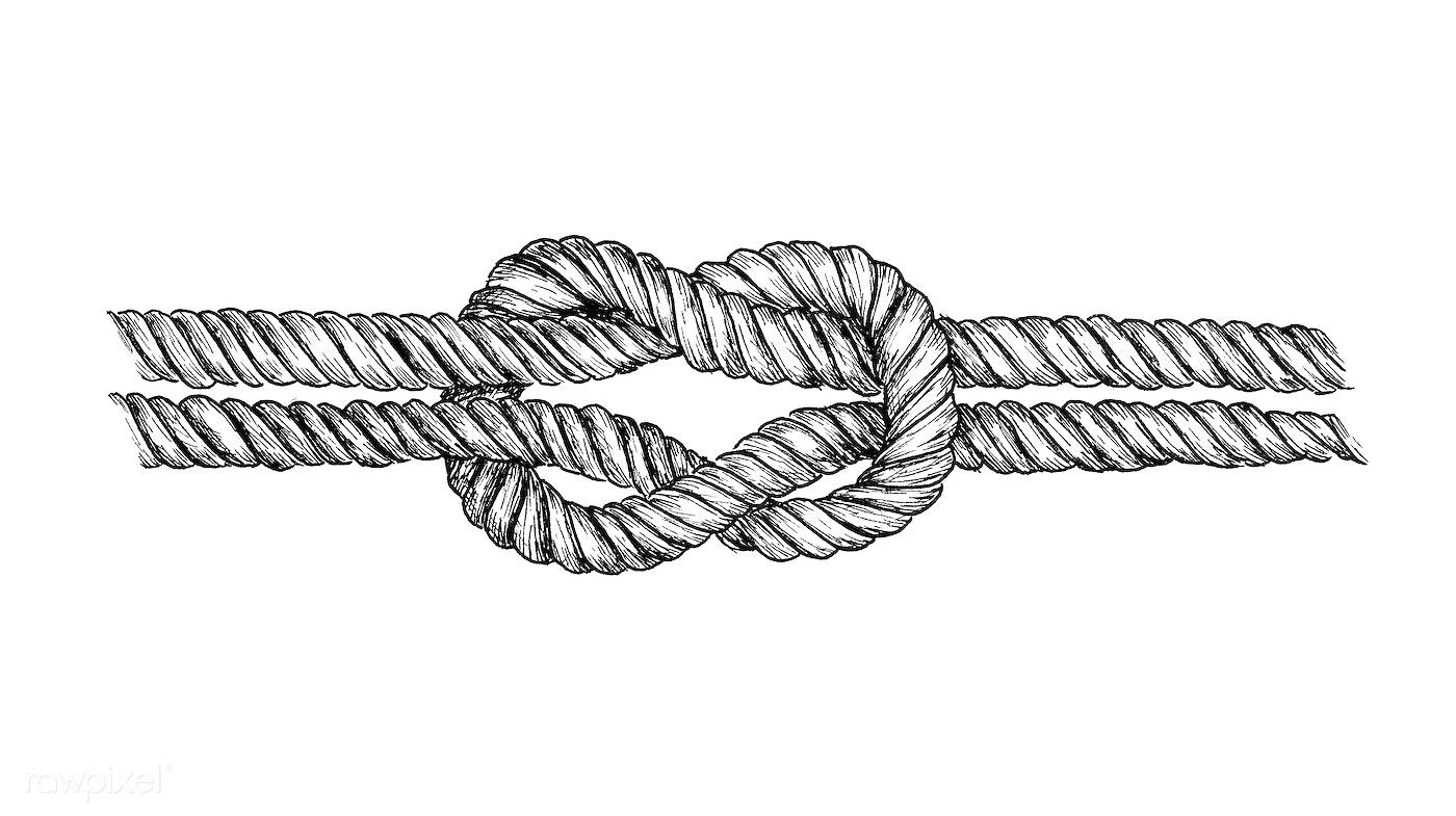 Hand drawn square knot - ID: 406807