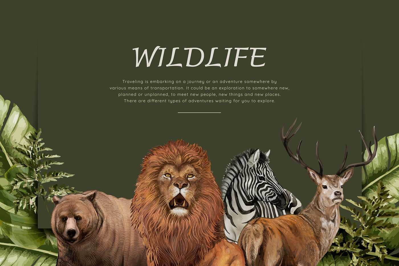 Hand drawn wild animals | Royalty free vector - 581212