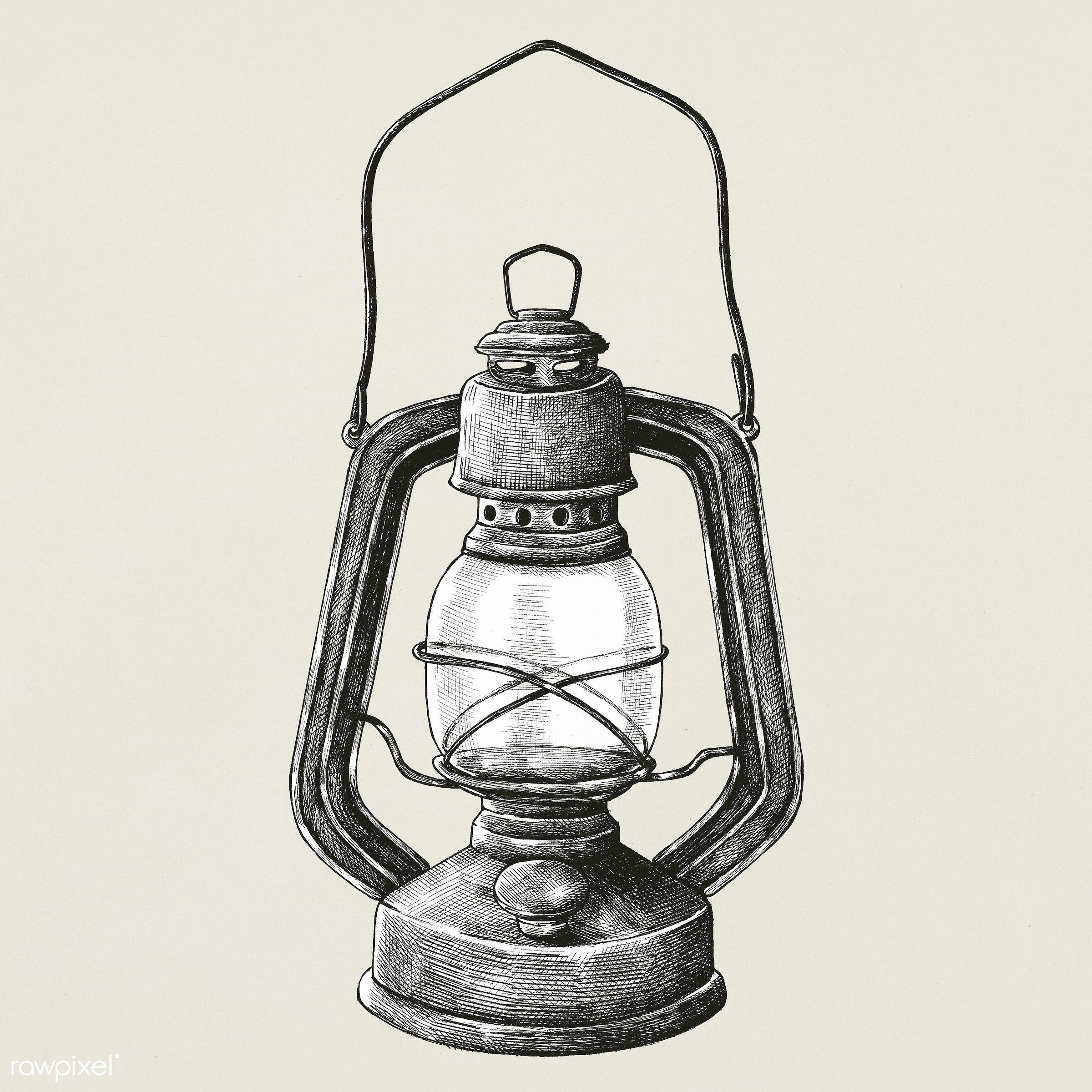 Hand Drawn Retro Portable Lantern