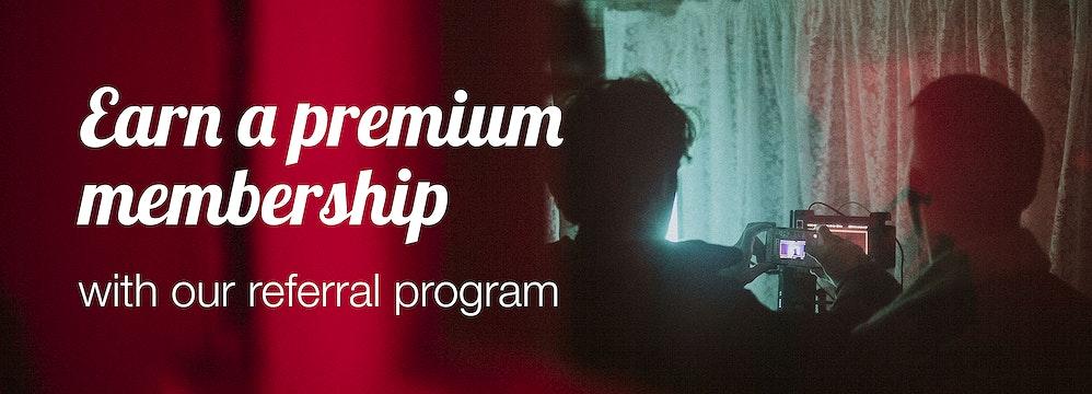 Earn a free premium membership