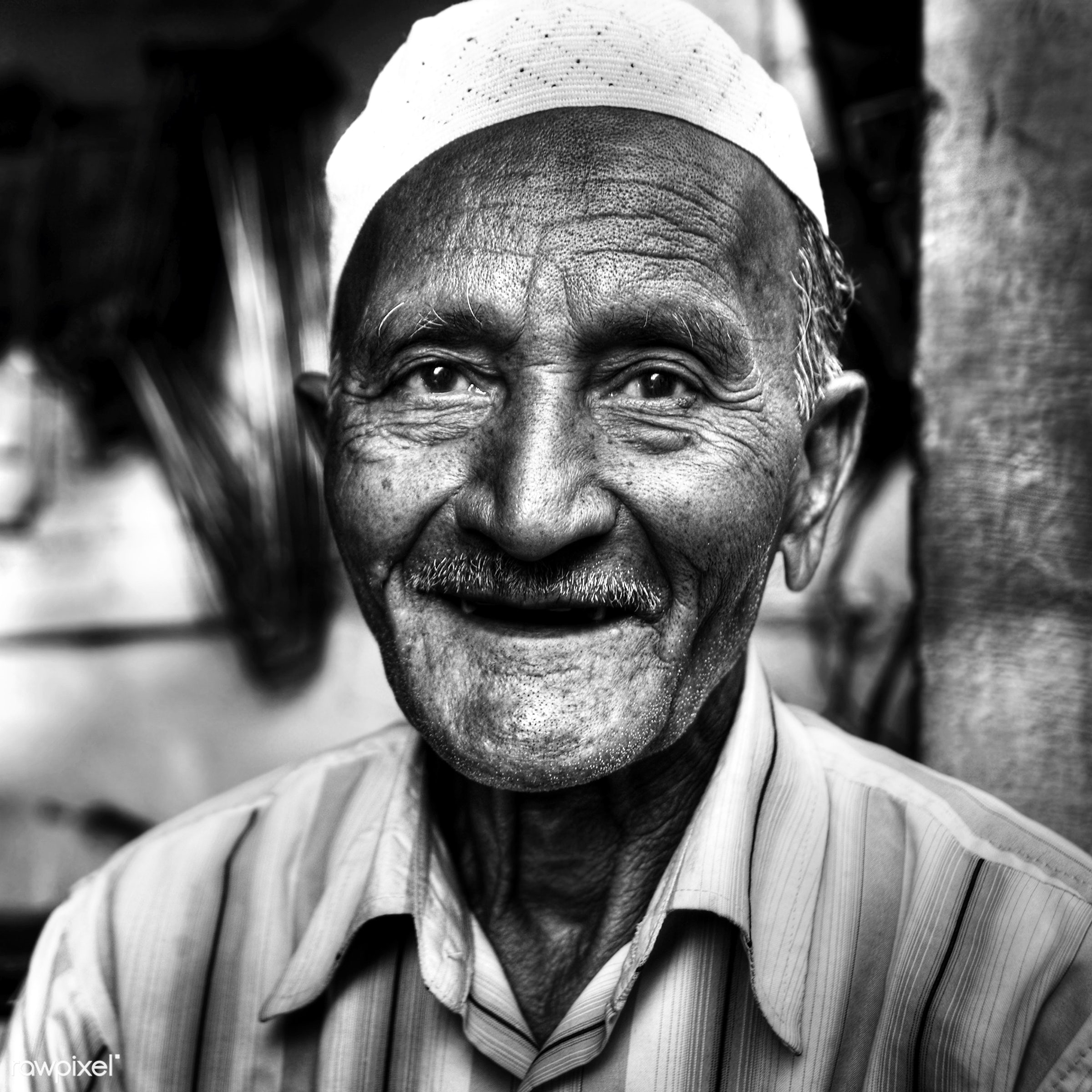 Happy Indian man smiling for the camera. - adult, asia, asian ethnicity, characters, cheerful, concepts and ideas, ethnic,...