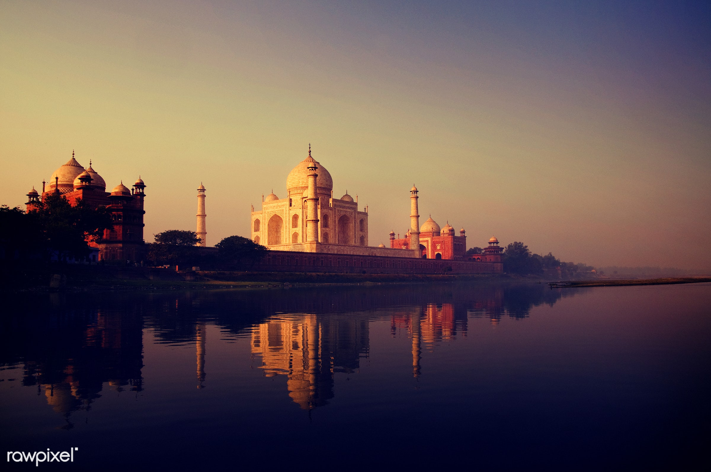 The Taj Mahal in Agra, India - 7 wonders, agra, architecture, architecture and buildings, asia, building exterior, built...