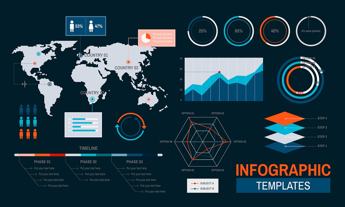 Vector of infographic templates design