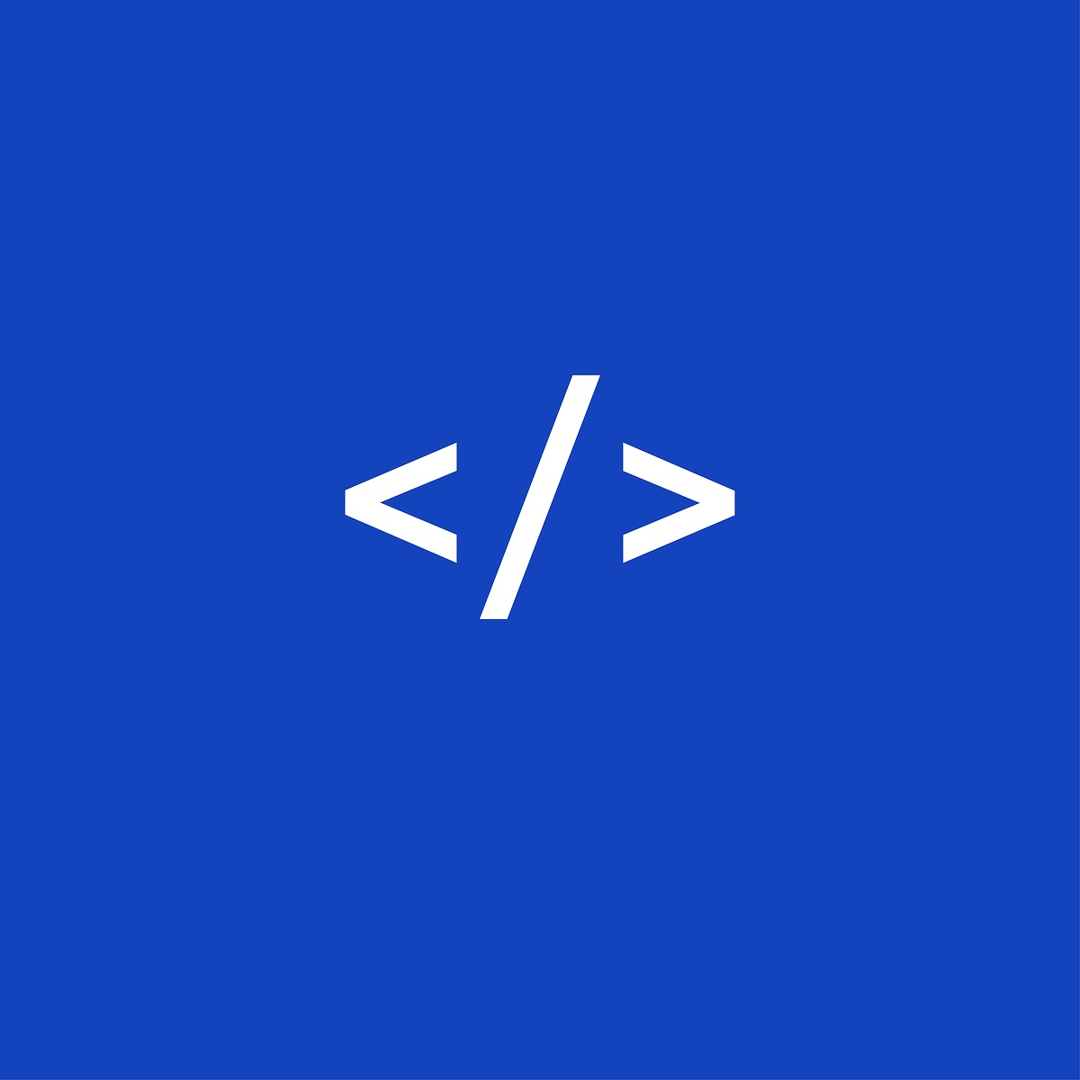 Web code icon vector on blue background